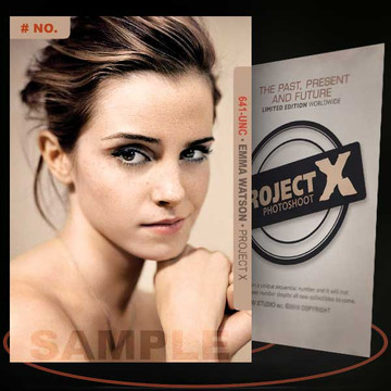 Emma Watson [ # 641-UNC ] PROJECT X Numbered cards / Limited Edition