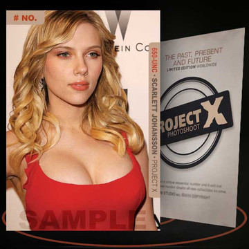 Scarlett Johansson [ # 650-UNC ] PROJECT X Numbered cards / Limited Edition