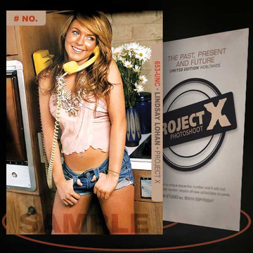 Lindsay Lohan [ # 653-UNC ] PROJECT X Numbered cards / Limited Edition