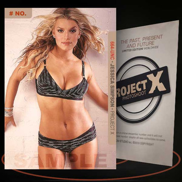 Jessica Simpson [ # 664-UNC ] PROJECT X Numbered cards / Limited Edition