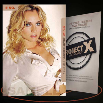 Diane Kruger [ # 672-UNC ] PROJECT X Numbered cards / Limited Edition