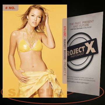 Mandy Moore [ # 676-UNC ] PROJECT X Numbered cards / Limited Edition