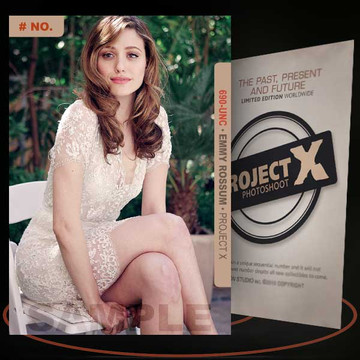Emmy Rossum [ # 690-UNC ] PROJECT X Numbered cards / Limited Edition