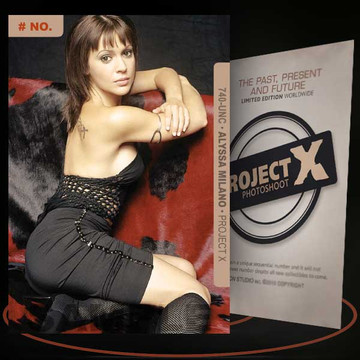 Alyssa Milano [ # 740-UNC ] PROJECT X Numbered cards / Limited Edition