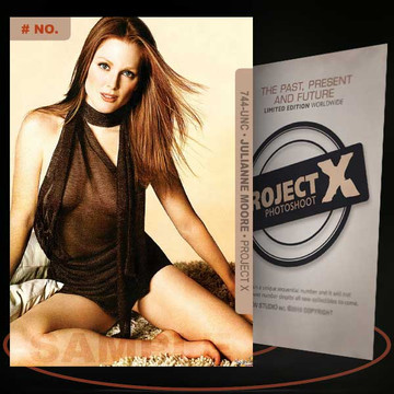 Julianne Moore [ # 744-UNC ] PROJECT X Numbered cards / Limited Edition