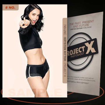 Krysten Ritter [ # 749-UNC ] PROJECT X Numbered cards / Limited Edition