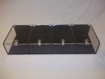 4 Section Show Display with Keyed Locks