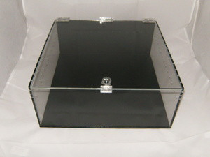 Acrylic Cube Show Display with Keyed Lock