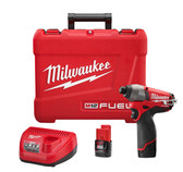 "2453-22 M12 1/4"" HEX IMPACT DRIVER KIT W/2 BATTERY"