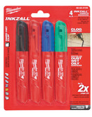 48-22-3109 4PK INKZALL COLOR CHISEL TIP MARKERS