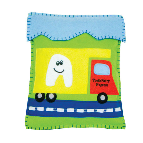 "Tooth Fairy Express Tooth Fairy Pillow  8"" x 10"" !WARNING: CHOKING HAZARD – Small parts. Not for children under 3 years."