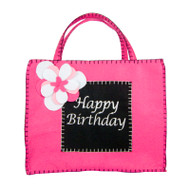 Black and Pink Happy Birthday Gift Bag