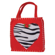 Zebra Heart Gift Bag
