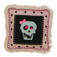 Girl Skull Tooth Fairy Pillow