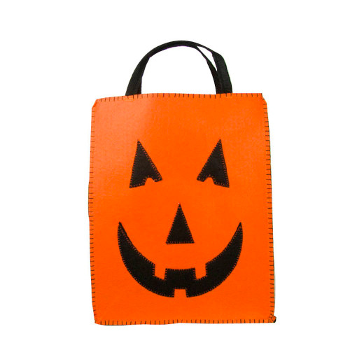 Classic Jack O'Lantern Trick or Treat Bag Durable and strong for loads of loot 8x10 100% poly felt  ! WARNING: CHOKING HAZARD – Small parts. Not for children under 3 years.