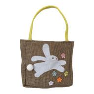 Hopping Bunny Burlap Gift Bag