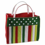 Christmas Stripes Gift Bag