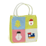 Medium Christmas Squares Gift Bag