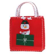 Snowman Finger Puppet Gift Bag