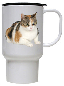 Calico Cat Polymer Plastic Travel Mug