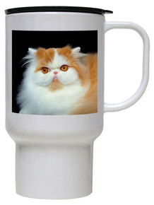 Persian Cat Polymer Plastic Travel Mug