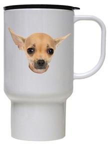 Chihuahua Polymer Plastic Travel Mug