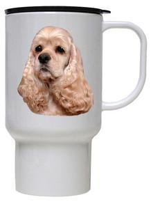 Cocker Spaniel Polymer Plastic Travel Mug