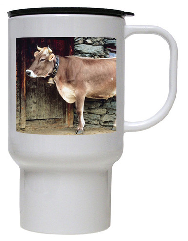 Cow Polymer Plastic Travel Mug