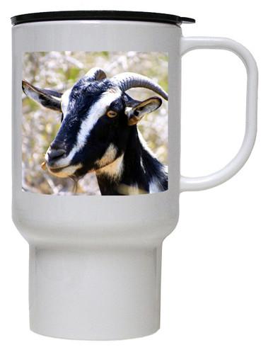 Goat Polymer Plastic Travel Mug