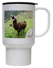Llama Polymer Plastic Travel Mug