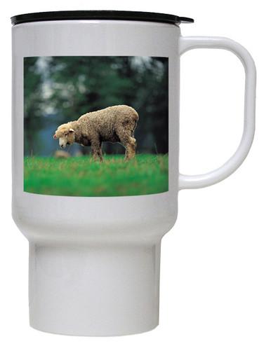 Sheep Polymer Plastic Travel Mug