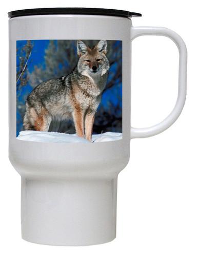 Coyote Polymer Plastic Travel Mug