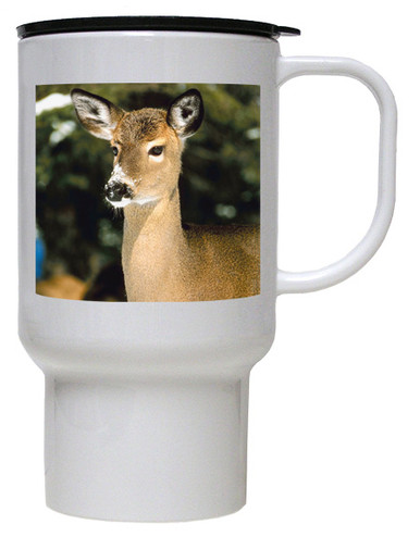 Deer Polymer Plastic Travel Mug