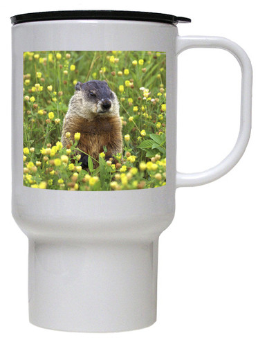 Groundhog Polymer Plastic Travel Mug