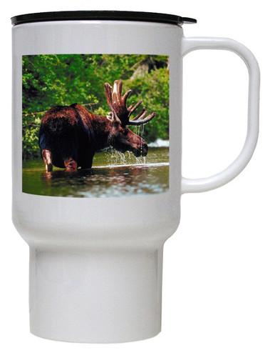 Moose Polymer Plastic Travel Mug