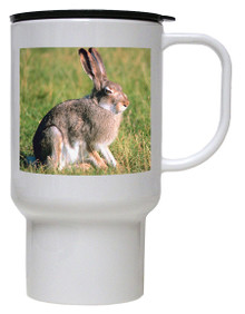 Rabbit Polymer Plastic Travel Mug