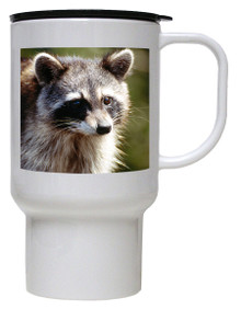 Raccoon Polymer Plastic Travel Mug