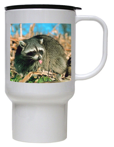 Raccoon Polymer Plastic Travel Mug
