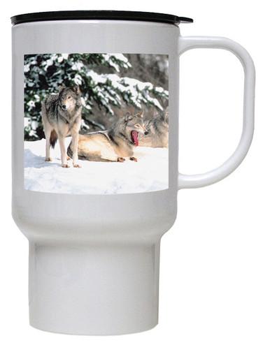 Wolf Polymer Plastic Travel Mug