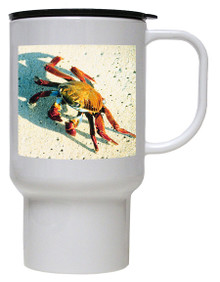 Crab Polymer Plastic Travel Mug