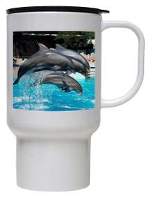 Dolphin Polymer Plastic Travel Mug