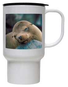 Sea Lion Polymer Plastic Travel Mug