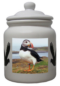 Atlantic Puffin Ceramic Color Cookie Jar