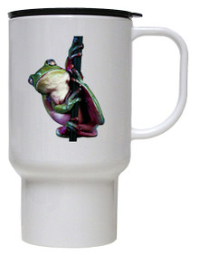 Tree Frog Polymer Plastic Travel Mug