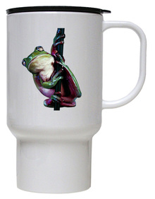 Tree Frog Polymer Plastic Travel Mug