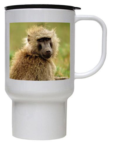 Baboon Polymer Plastic Travel Mug