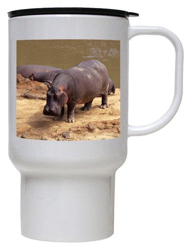 Hippo Polymer Plastic Travel Mug