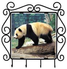 Panda Bear Metal Key Holder