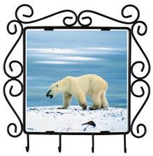Polar Bear Metal Key Holder
