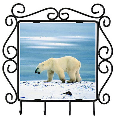 Polar Bear Metal Key Holder